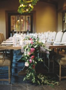 wedding reception ideas floral garland washington dc floral designer