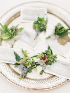 organic herb and foraged greenery boutonnieres