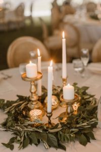 Centerpiece-wedding-flowers-floral design-candles-maryland wedding-reception ideas