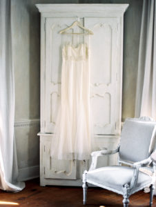 stylized bridal gown at Retreat at Cool Springs in Bluemont, Virginia