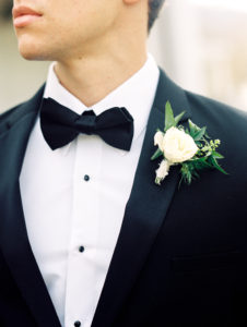 Classic groom with organic boutonniere