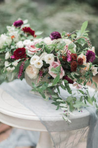 large wedding table centerpiece for garden elopement inspiration