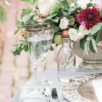 summer garden wedding details at River Farm botanical garden