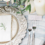 tablescape details for summer garden wedding inspiration