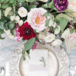 centerpiece details for summer garden wedding inspiration in garden