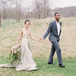 romantic bride and groom portrait at Retreat at Cool Springs