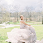styled engagement in stunning Carol Hannah gown