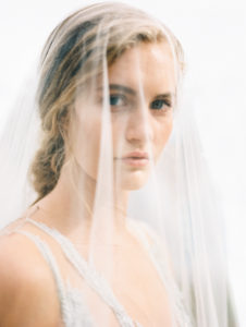 Bridal portraits with veil
