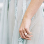 Elegant bridal style with engagement ring by Susie Saltzman