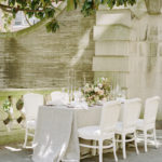 feminine, lush, luxe spring outdoor tablescape at The Anderson House in DC