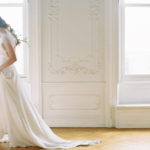 Parisian femininity bridal style with romantic movement