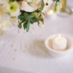 Parisian femininity wedding details with spring floral