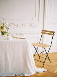 Parisian femininity tablescape with elegant details